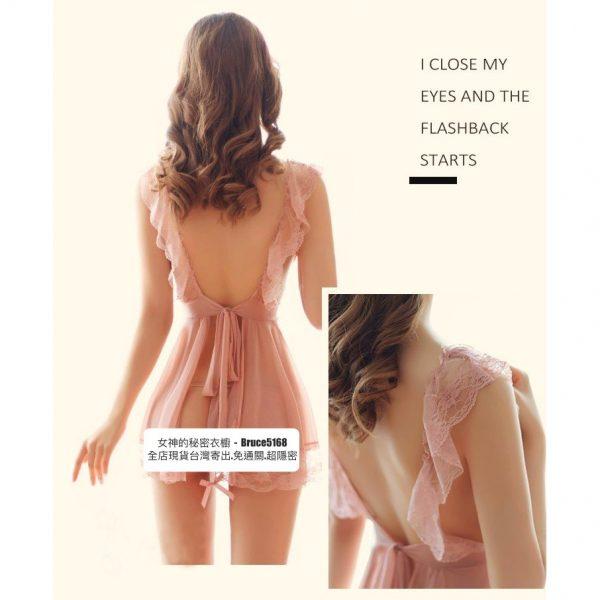 女神的秘密衣櫥 日系小廚娘 性感 女僕裝 角色扮演 性感睡衣 女傭 圍裙綁帶 蕾絲微透 背部摟空 女僕圍裙 情趣角色服