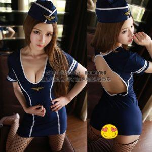 女神的秘密衣櫥 角色扮演 連身 空姐服 性感空姐扮演 情趣空姐角色服 空姐裝 含網襪組