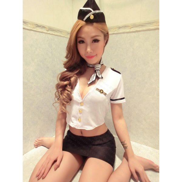 女神的秘密衣櫥 角色扮演 日系偶像劇 性感 制服 空姐扮演服 性感空姐  空姐服 空姐裝 黑色限定版 cosplay