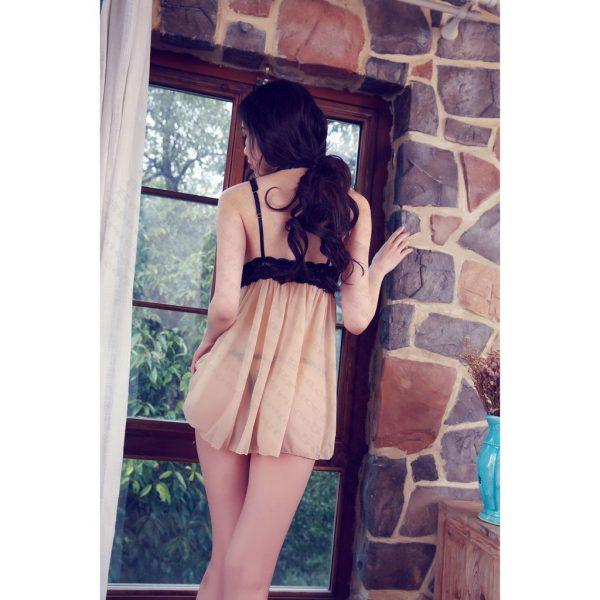 女神的秘密衣櫥 性感睡衣 [古典薄紗] 系列情趣睡衣 法式繡花 蕾絲微透 輕薄細肩帶 深v罩衫  家居服