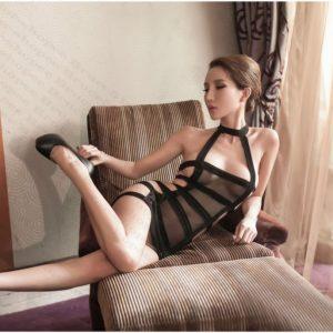 女神的秘密衣櫥 情趣內衣 緊繃 條紋衣 性感睡衣 情趣性感內睡衣  暗黑少女 網裝 洞洞裝 連身衣 束縛情趣睡衣