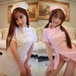 女神的秘密衣櫥 白衣天使水鑽 性感 護士服全素色 護士 性感睡衣護士服 - 護士制服 含護士頭飾 性感護士 情趣護士