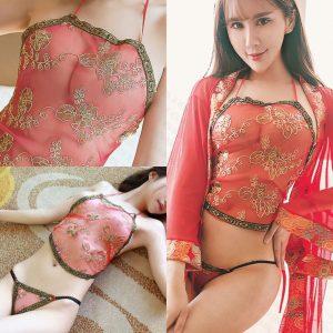 女神的秘密衣櫥 角色扮演 貴妃宮廷貴妃角色服 性感肚兜 情趣華服 扮演服  性感內睡衣 肚兜 性感情趣內衣