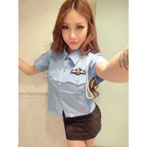 女神的秘密衣櫥 角色扮演 女警裝 警察 制服 經典款  X吸哥影片知名女藝人流出版 女警 角色扮演 性感制服 女警制服