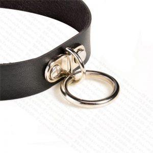 女神的秘密衣櫥 暗黑少女 龐克風 皮革式頸圈 項鍊 項環 時尚裝飾 飾品 壞壞風格
