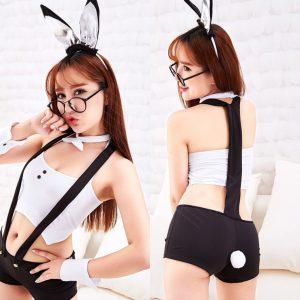 女神的秘密衣櫥 兔女郎角色扮演 吊帶褲 兔女郎 性感兔女郎裝 情趣兔女郎服  性感睡衣 情趣內睡衣 兔女角色吊帶熱褲