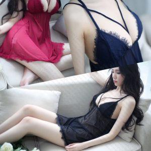 女神的秘密衣櫥 [古典薄紗] 系列 情趣睡衣 微透輕 薄紗睡衣 低胸交叉肩帶 簍空 情趣 內睡衣 性感睡衣 性感薄紗睡衣