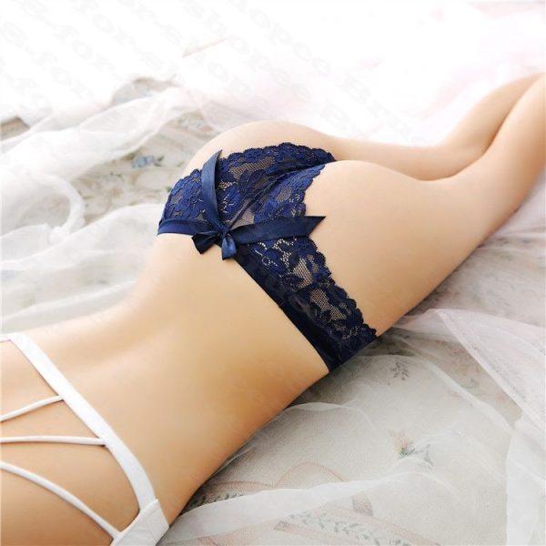 女神的秘密衣櫥 女用內褲 半包臀蕾絲內褲 性感 情趣 低腰  性感全蕾絲半透明鏤空無痕女內褲